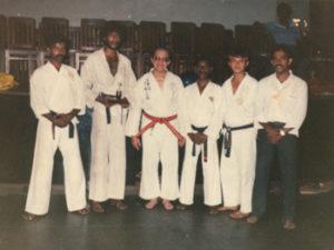 Shihan Athula and his students with grand master Chew Choo Soot
