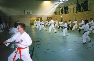 Dhammika students during Bo training
