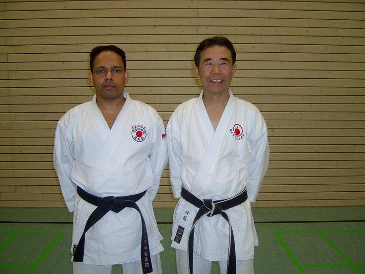 Kyoshi Akira Sato and Shihan Minithanthri